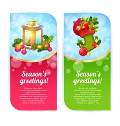 Christmas congratulation banners vector image vector image