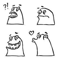 funny jelly monster set vector image vector image