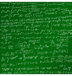 maths chalk board vector image