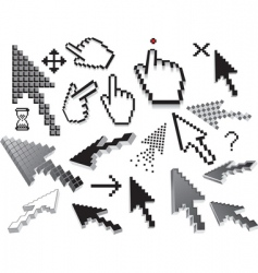 Pixilated icons vector