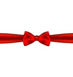 Red bow with horizontal ribbon vector image