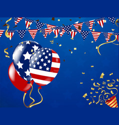 4th of july happy independence day banner usa vector image