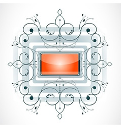 Abstract shape with frame vector