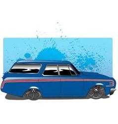 BlueWagon vector image vector image