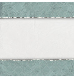Border of torn old paper vector image