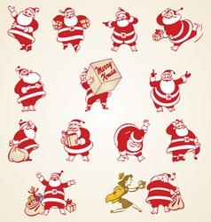Christmas Santa Claus vintage vector image vector image