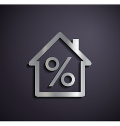 Logo real estate with a percent sign vector image