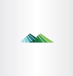 Mountain hill logo icon sign vector