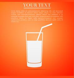soft drink icon on orange background vector image