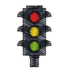 Color crayon stripe image traffic light element of vector