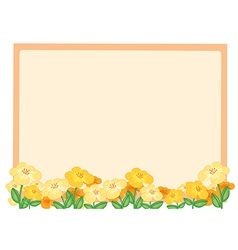 Flowers and a light orange board vector image vector image