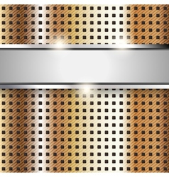 Metal surface copper iron texture background vector