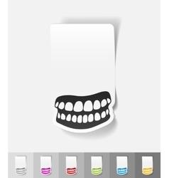 Realistic design element jaw vector