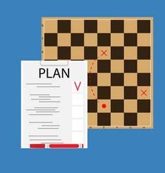 strategic plan concept vector image