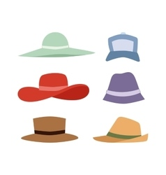 Summer hats collection set vector image