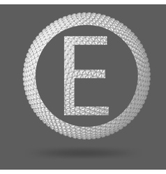The letter E Polygonal letter Abstract Creative vector image