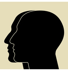 Two heads sIlhouette vector image vector image