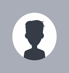 unknown male silhouette vector image