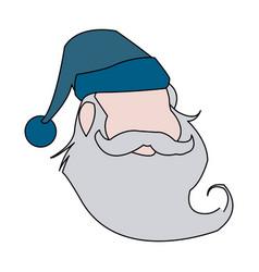 funny face santa claus christmas celebration vector image