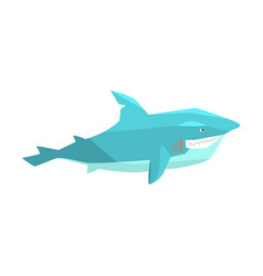 great white shark marine fish living in warm sea vector image vector image