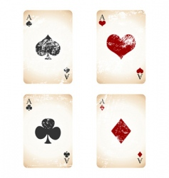 grunge playing cards vector image vector image