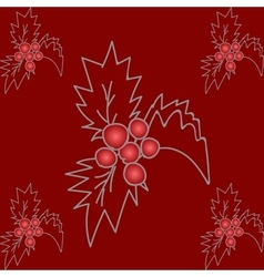 Holly Christmas pattern vector image vector image