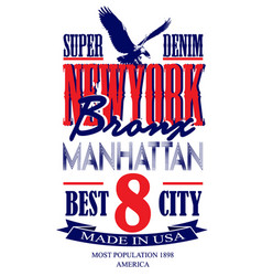 newyork poster graphic design vector image
