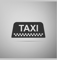 taxi car roof sign icon on grey background vector image vector image