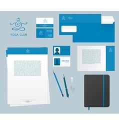 Yoga studio branding set vector image vector image