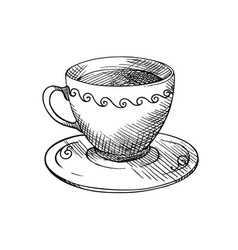 a cup of tea or coffee vector image