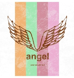 angel icon retro background vector image