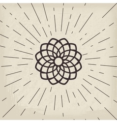 Asian lotos symbol vector image