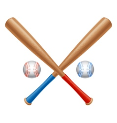 Baseball items vector
