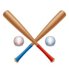 Baseball items vector image