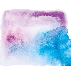 blue and pink watercolor background vector image