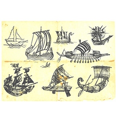 boats vector image