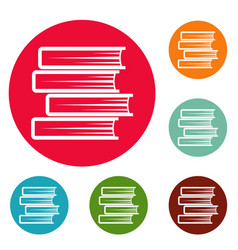 book student icons circle set vector image