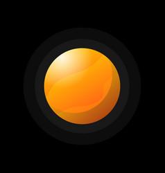 bright orange planet on black vector image