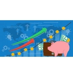 Business background financial money growth vector image