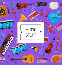 Cartoon musical instruments vector
