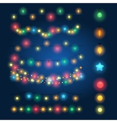 Christmas string lights vector