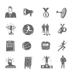 Coaching And Sport Icons Set vector image