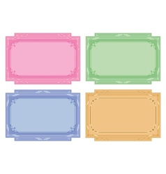 color labels tags cards set vector image