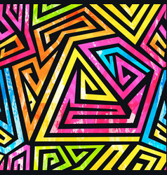 colored ethnic seamless pattern vector image