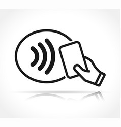 contactless payment icon sign vector image
