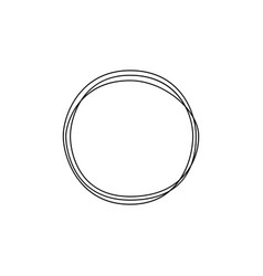 continuous one line drawing circle minimalism art vector image