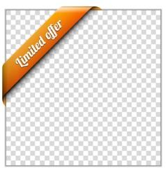 Corner ribbon vector image