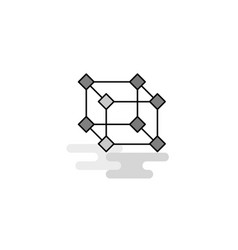 cube web icon flat line filled gray icon vector image