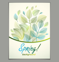 design vertical banner with spring typing logo vector image