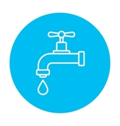 Dripping tap with drop line icon vector